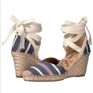 Espadrille Sandal with Lace-up Ankle Wrap